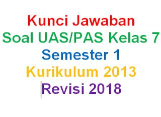 Kunci Jawaban Soal IPA Kelas 7 Semester 1 Kurikulum 2013 Revisi 2018