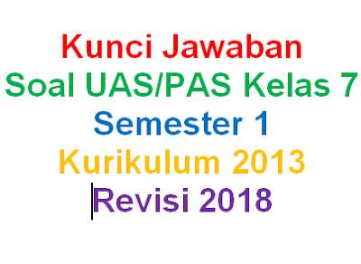 Kunci Jawaban Soal IPS Kelas 7 Semester 1 Kurikulum 2013 Revisi 2018