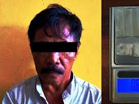 Kakek Paruh Baya di Padang Lampe Terciduk Simpan Narkoba Jenis Sabu Disongkoknya