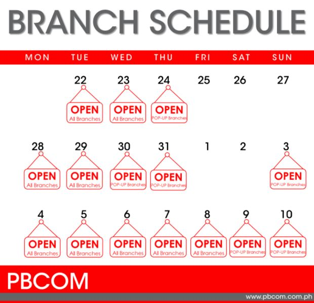 PBCom schedule December 2020