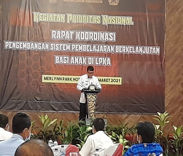 Bersama Kadindikbud, Kepala LPKA Tangerang Hadiri Rakor Pengembangan Sistem Pembelajaran Berkelanjutan bagi Anak di LPKA