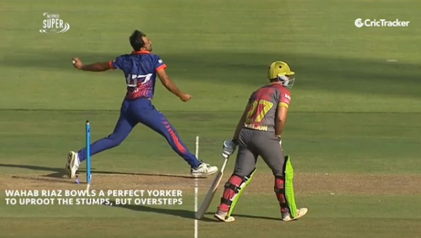 Wahab throws most dangerous no-ball in cricket history, Video viral