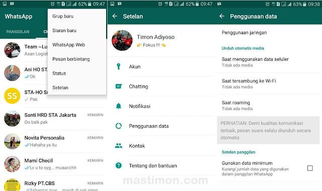 Cara stop WhatsApp menyimpan Foto atau Video secara Otomatis