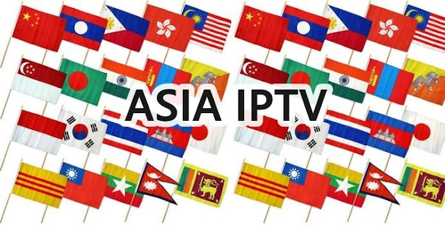 Asie free IPTV list m3u channels