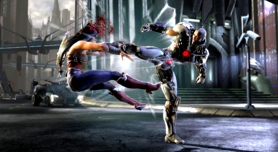 Cyborg vs Wonder Woman - Justice League
