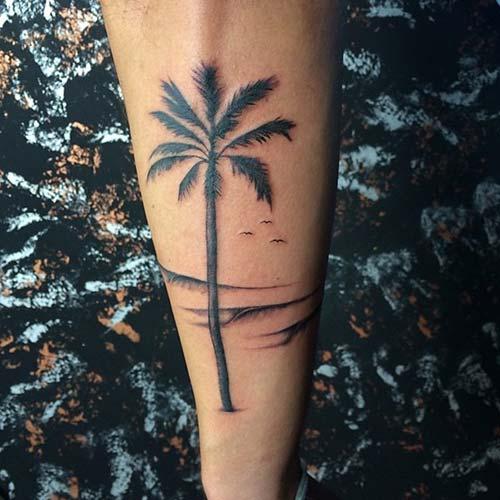palmiye ağacı dövmeleri palm tree tattoos
