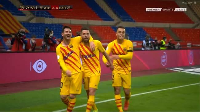 اهداف مباراة برشلونة و اتليتك بلباو 4-0