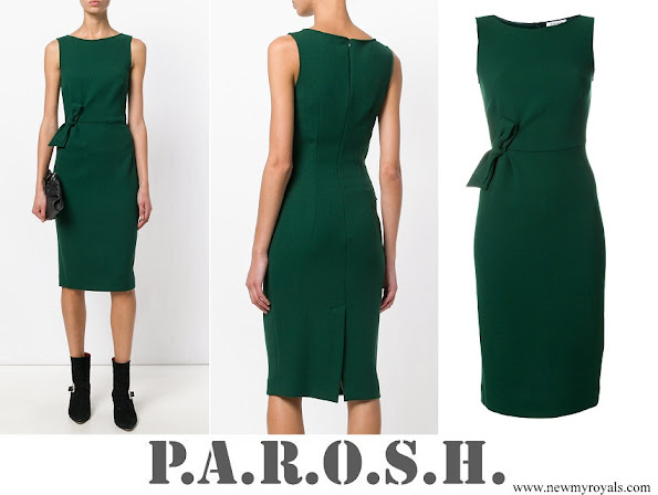 Meghan Markle wore P.A.R.O.S.H. bow detail sleeveless dress