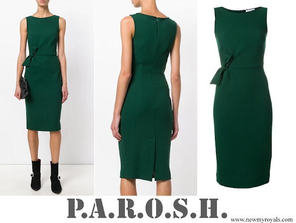 Meghan Markle wore P.A.R.O.S.H. bow detail sleeveless dress