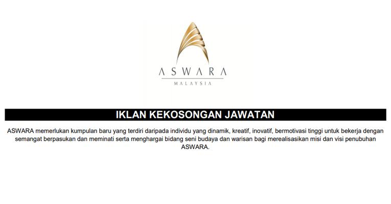 Jawatan Kosong Akademi Seni Budaya Dan Warisan Kebangsaan ASWARA