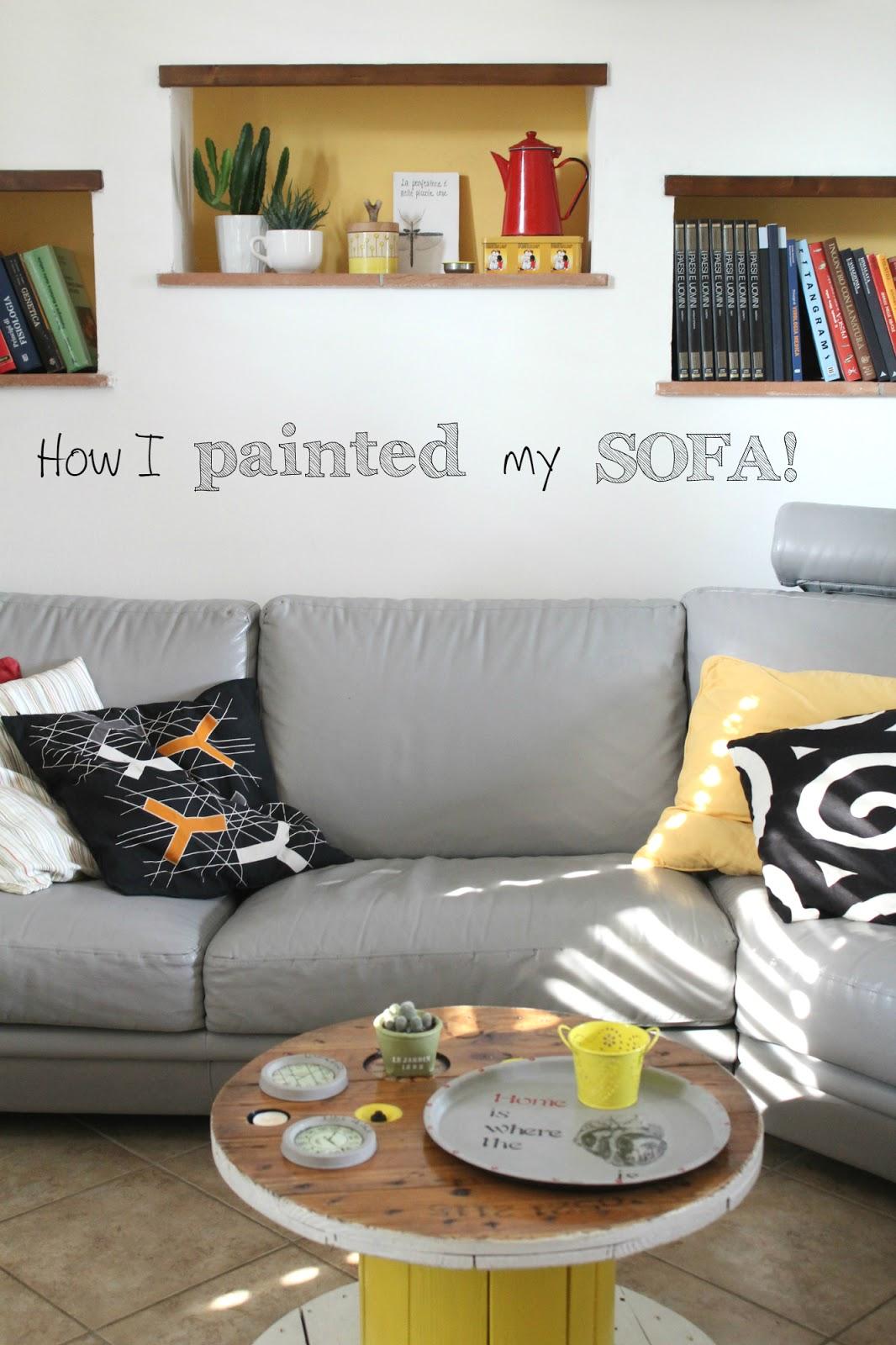 Conosciuto Vivere a piedi nudi living barefoot: Come ho dipinto il mio divano  ZP56