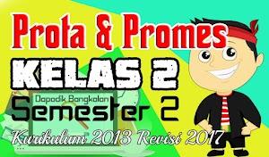 Prota dan Promes Kelas 2 Semester 2 Kurikulum 2013 Revisi 2017