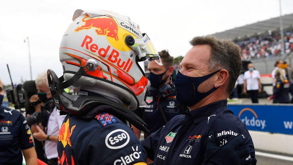 Horner chama a vitória de Verstappen de 'revanche para o Barcelona' após a Red Bull derrotar a Mercedes na França