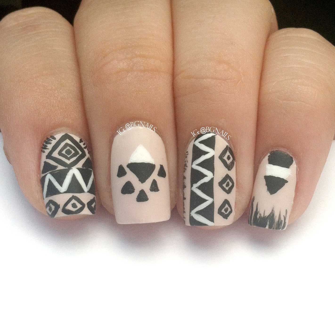 Tribal Nail Art: Bgnails: Another Tribal Nail Art Design