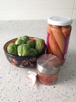 Ingredientes coles asadas