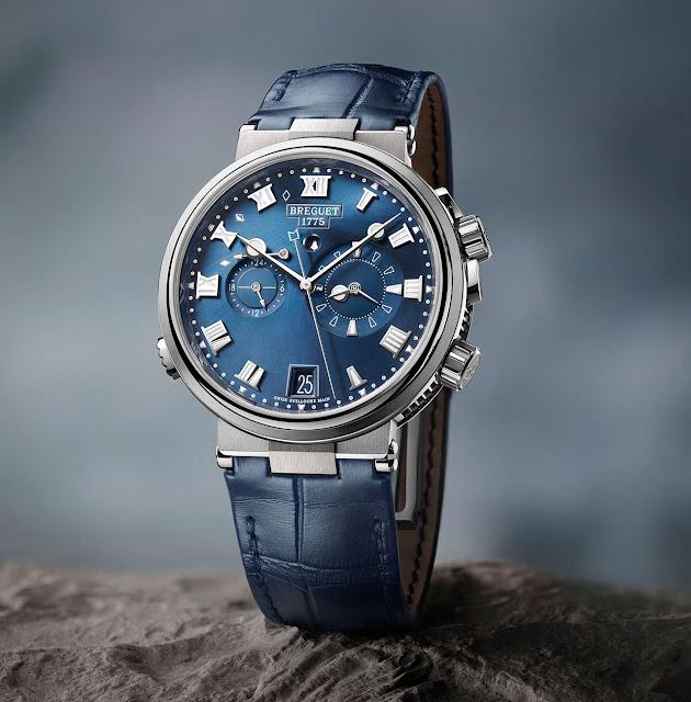 Breguet Marine Alarm Musicale 5547 in titanium and blue dial