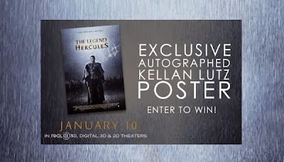 GIVEAWAY: Legend of Hercules poster, autographed by Kellen Lutz - ends 1/4/14