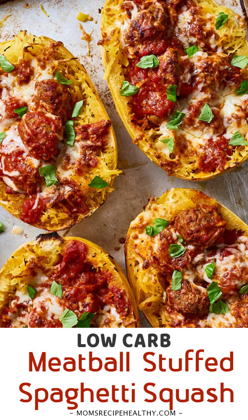 Easy Low-Carb Meatball-Stuffed Spaghetti Squash