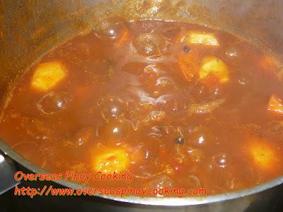 Beef Mechado, Pinoy Version - Cooking Procedure