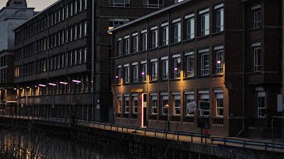 Wallpaper river, twilight, buildings, HD architecture