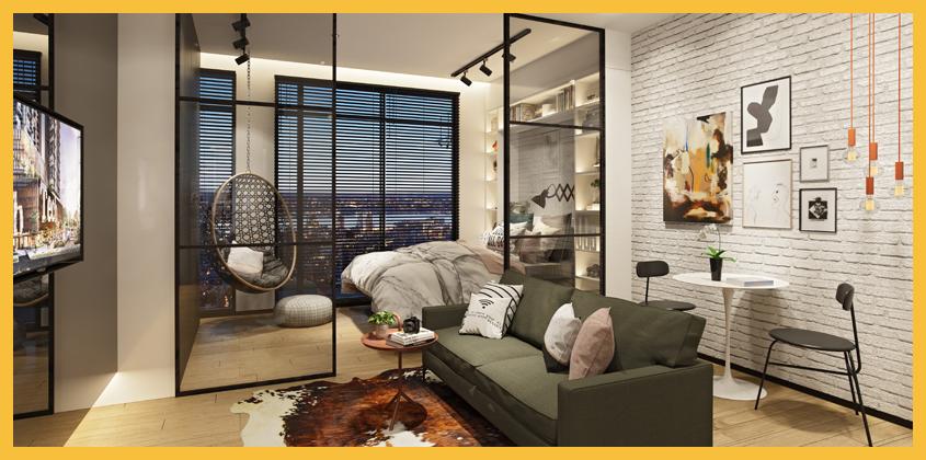 Upper West BSD City - Tipe 2BR - Living Room