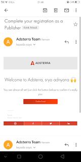 Cara Mudah Daftar Adsterra 100% Diterima Sebagai Alternative Adsense