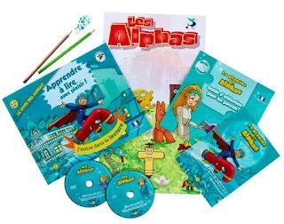 CD et DVD des alphas accompagnés du livret et du guide des alphas