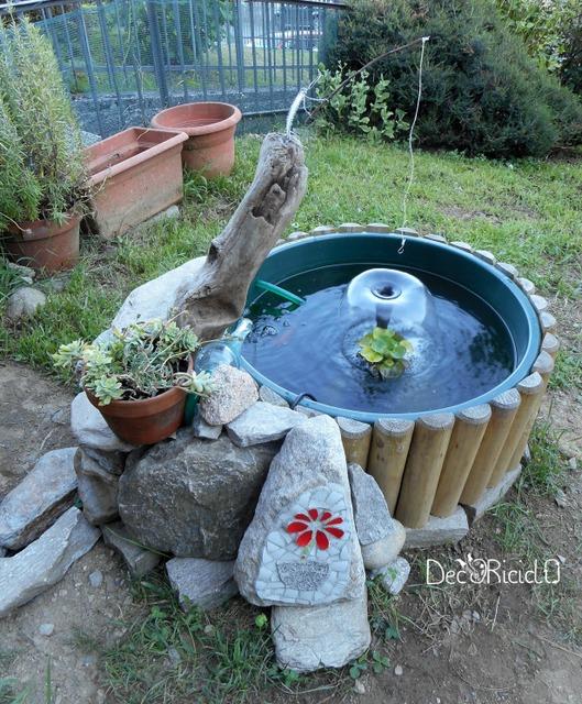 Decoriciclo il nostro pond parte 1 come abbiamo for Filtro vasca pesci rossi