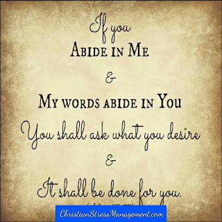 If you abide in Me and My Words abide in you, you shall ask what you desire and it shall be done for you. (John 15:7)