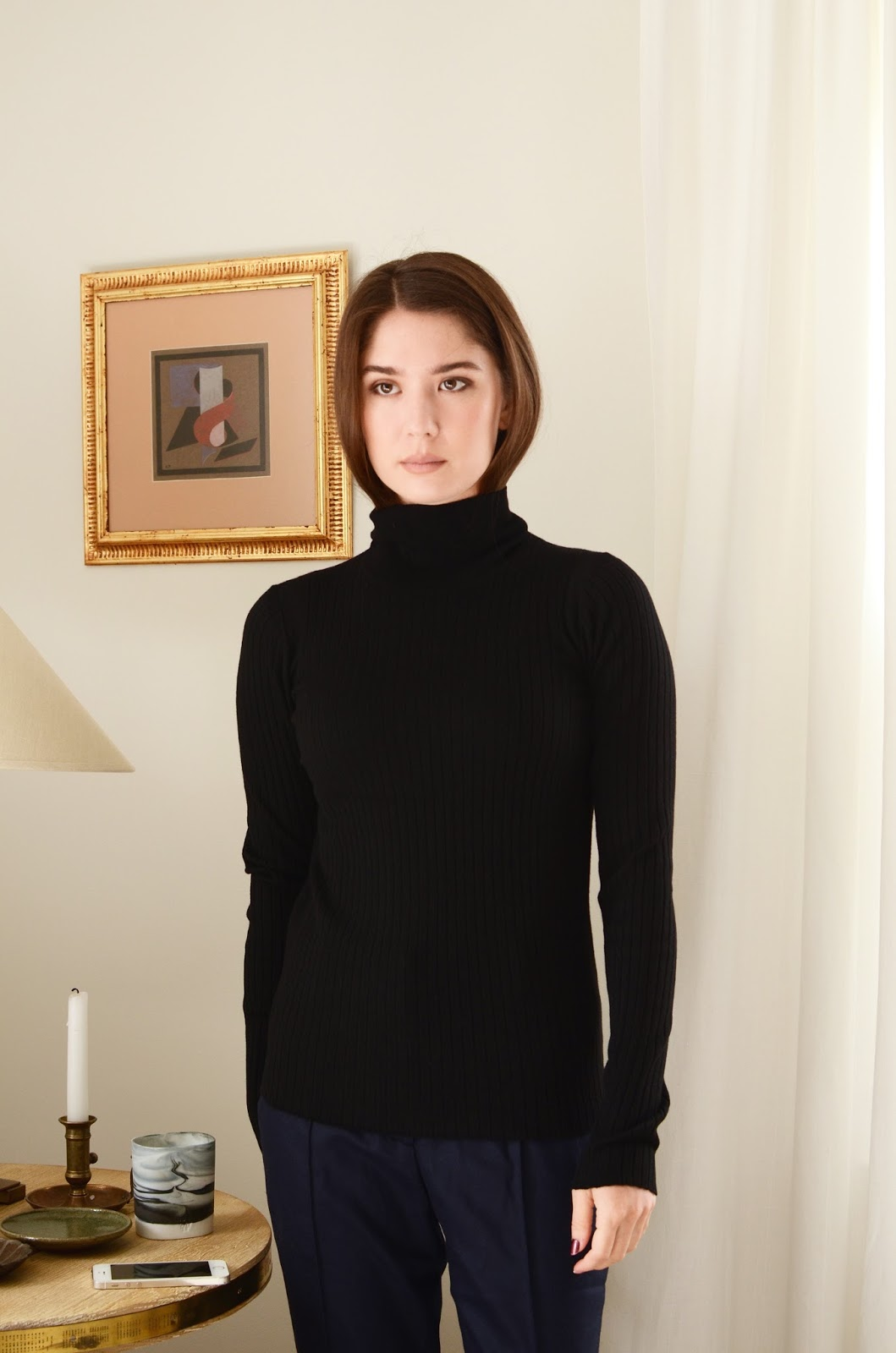 Everlane Luxe Wool Ribbed Turtleneck Review Photos