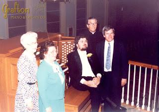 Carlo Curley, Larry Phelps, Msgr. McDonough, Mrs. Seltzer at Mt. Carmel Doylestown