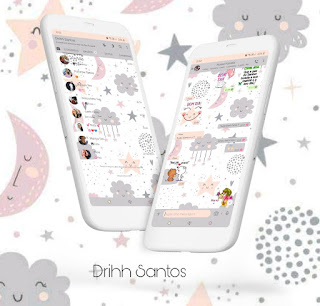 Nuvens Cute Theme For YOWhatsApp & Fouad WhatsApp By Driih Santos