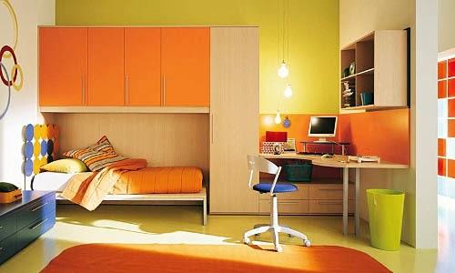 38 Small Orange Themed Bedroom Designs Interior Design