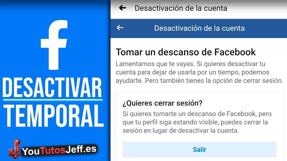 Como Desactivar Facebook Temporalmente