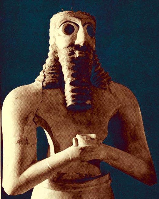 Representación de Anu, un supuesto antiguo gobernante del planeta Nibiru. Según los textos antiguos él habría venido a la Tierra.