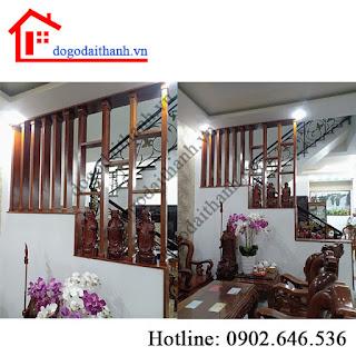 Công trình thi công vách ngăn trang trí phòng khách quận Tân Phú