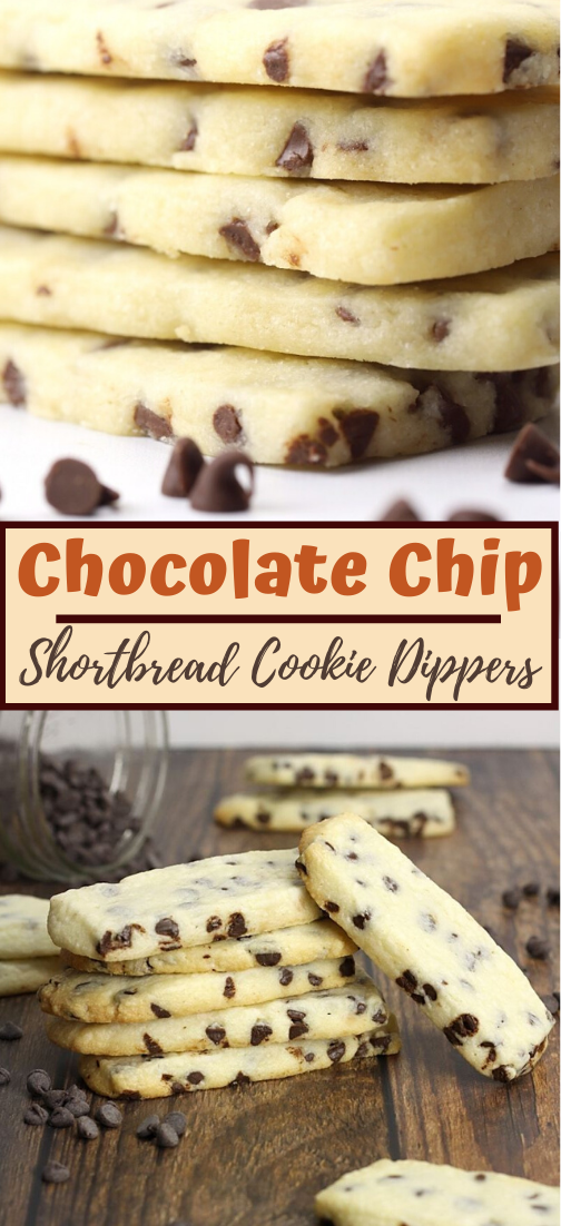 Chocolate Chip Shortbread Cookie Dippers #dessertrecipe #chocolatecake #cheesecake #cookiessimplerecipe