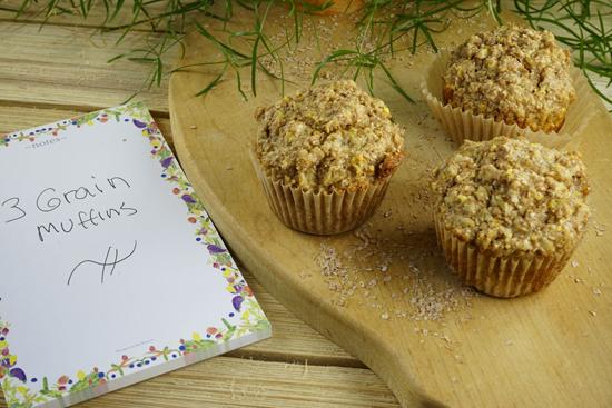 Three Grain Muffins