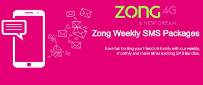 Zong weekly sms package 2020 - zong weekly sms packages