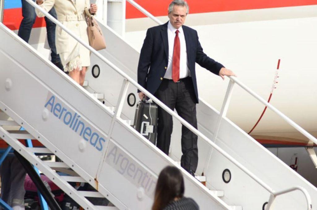 Alberto Fernández arribó a la Argentina tras concluir su gira europea