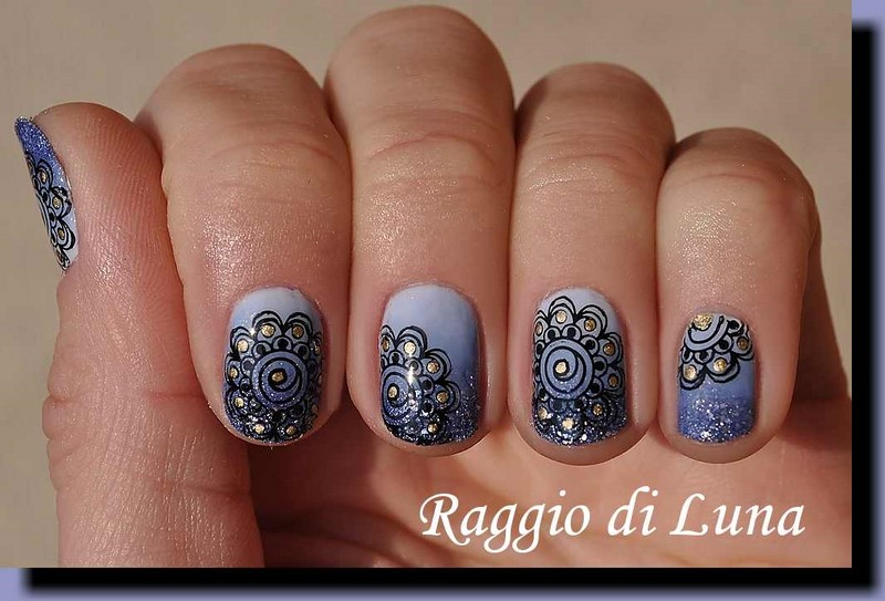 Raggio di luna nails stamping plate bp l051 black flower on stamping plate bp l051 kiko 3 in 1 shine fortifying fast dry basetop coat prinsesfo Choice Image