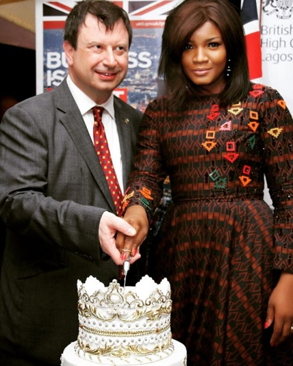 Photos: Omotola Jalade, Okocha Mark Queen Of England's 90th Birthday With British HC In Lagos