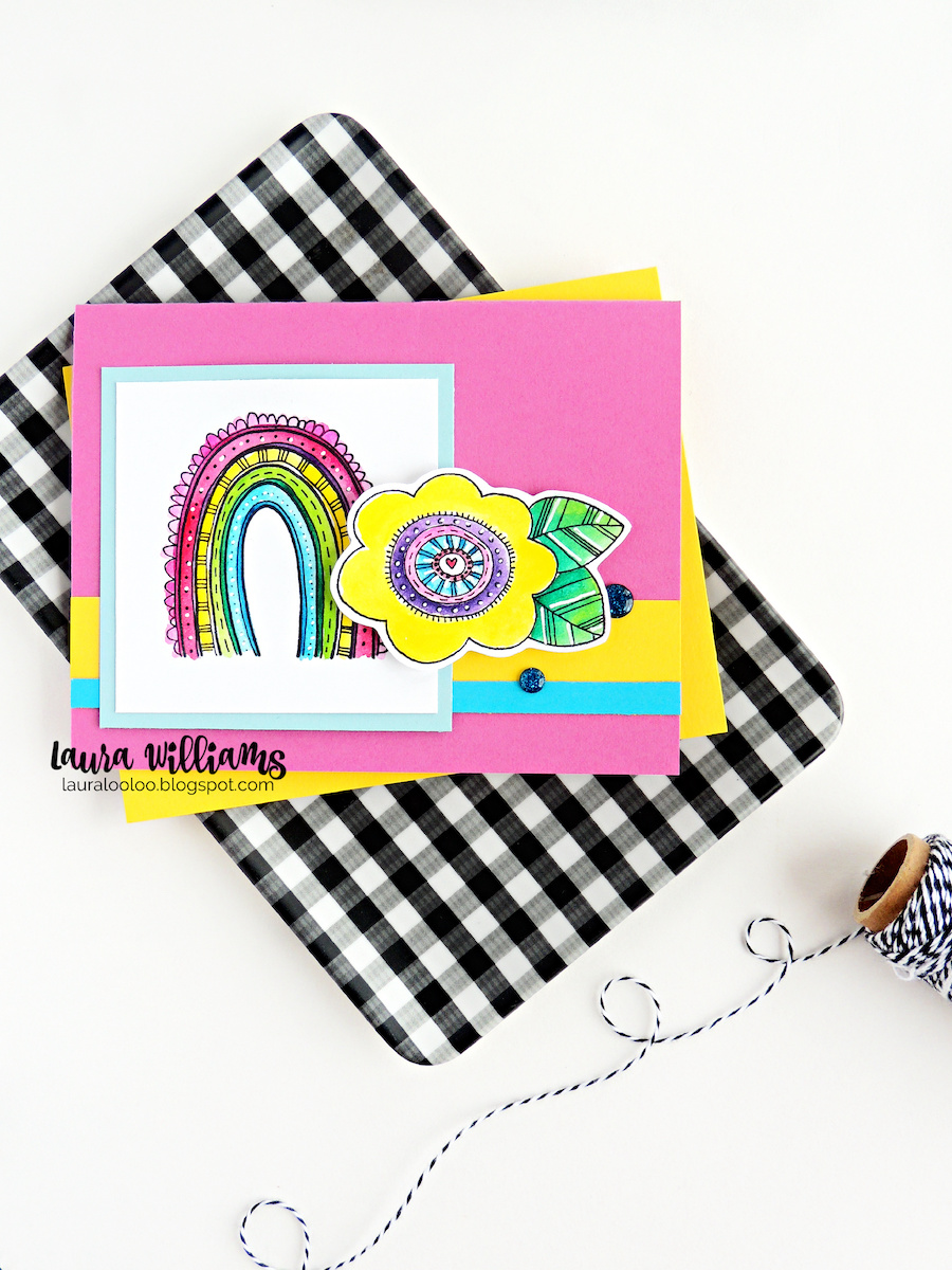 Visit my blog to see two handmade card ideas with these cheery rainbow themed stamps from Impression Obsession. The Rainbow Scallops and Rainbow Flower stamps, along with other adorable designs drawn by Lindsay Ostrom are perfect for handmade cards, scrapbooking and paper crafting.