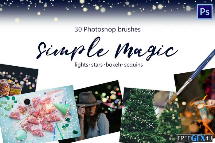 Magic Brushes Lights, Bokeh, Tinsel