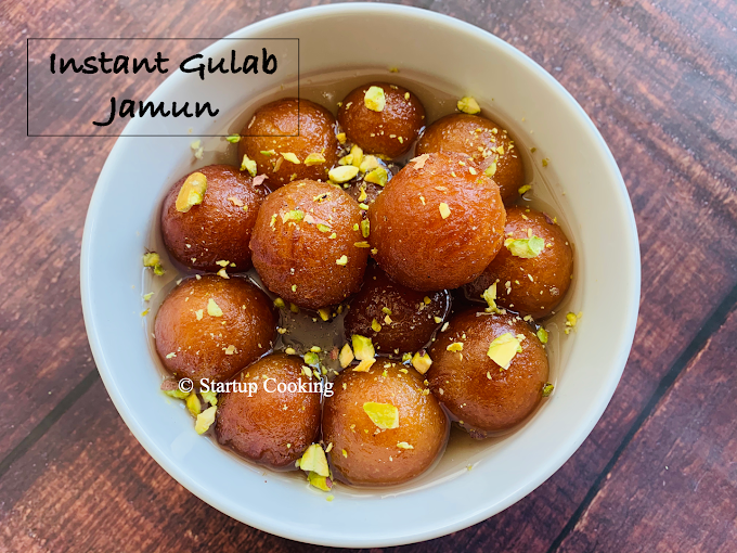 MTR Gulab Jamun Recipe | Gulab Jamun Recipe with Instant Mix | Startup Cooking