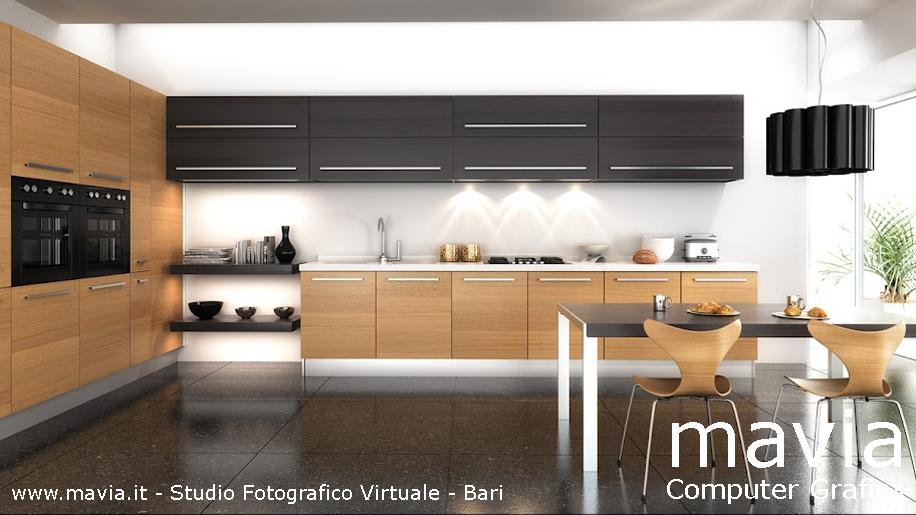 Arredamento di interni rendering cucine 3d arredamento di for Ambientazioni case moderne