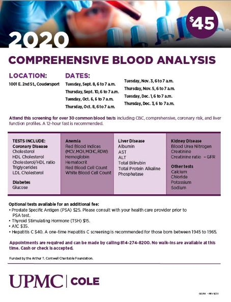 9-8/10 Comprehensive Blood Analysis