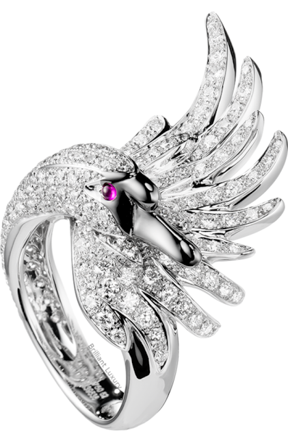 Brilliant Luxury♦Boucheron Paris Cypris white diamond ring