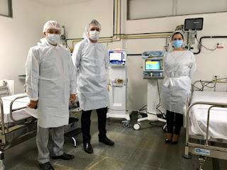 Bahia recebe 120 respiradores do Ministério da Saúde para abertura de novos leitos de UTI