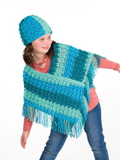 Crochet Super Simple Crochet Poncho and hat pattern